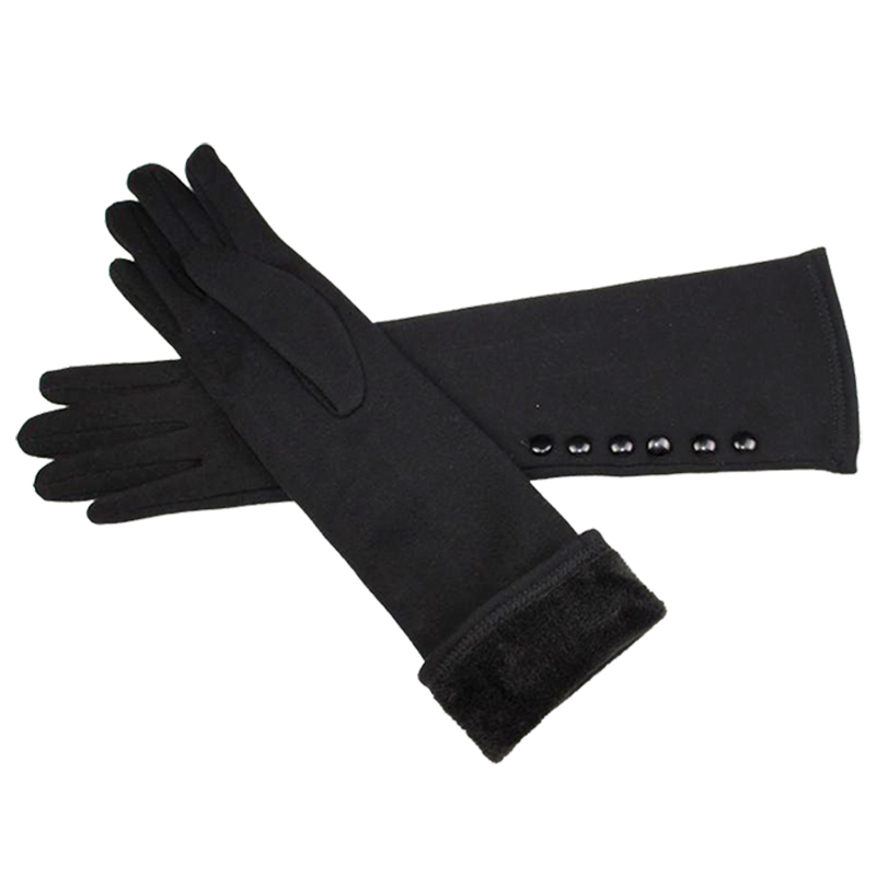 38cm Long Knit Mittens Of Cotton Gloves And High Elastic Sleeve For The Spring And Autumn Heat Preservation