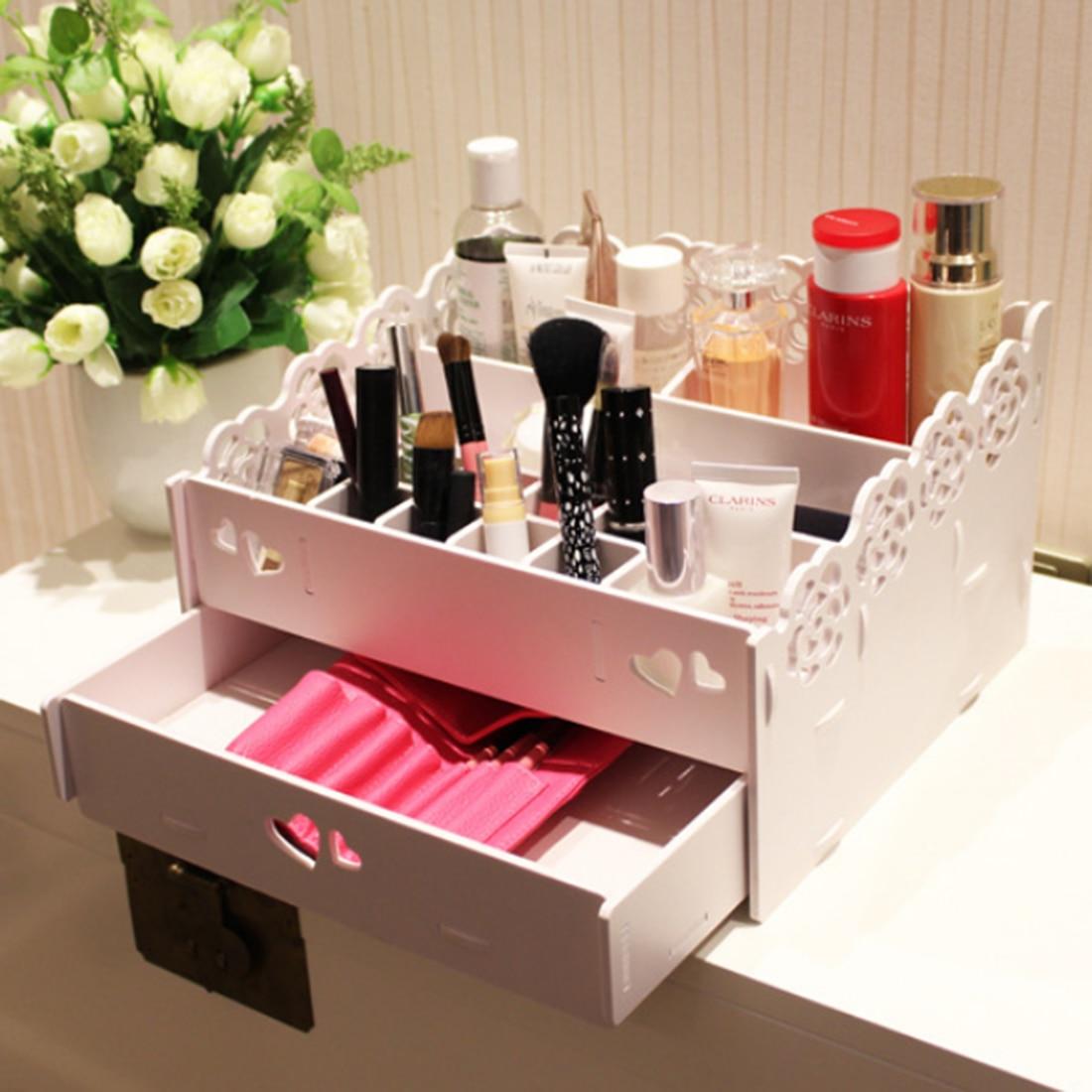 ̿̿̿(•̪ )Encaje cosméticos caja de almacenamiento cosmética caja ...