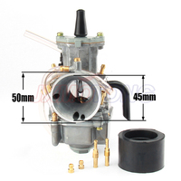 High quality 24mm Carb Carburetor for For koso oko keihin PWK 24 Fit 2 or 4 Stroke Motorcycle Moped Scooter motor Dirt Pit bike