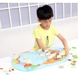 3D mapa mundial de madera de juguete Bandera Nacional estéreo juguetes educativos rompecabezas de aprendizaje temprano para niños