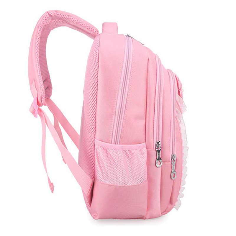 New Backpack Schoolbag Children School Bags For Girls Sweet Cute Cartoon Princess Cat Children Backpack Kids Bag School Backpack