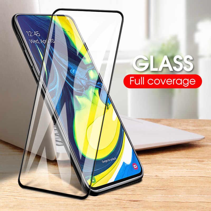 3 قطعة/الوحدة غطاء كامل المقسى زجاج عليه طبقة غشاء رقيقة لسامسونج A50 A30 A70 A10 A20 A40 A60 A80 A90 M40 M30 M20 m10 واقي للشاشة HD
