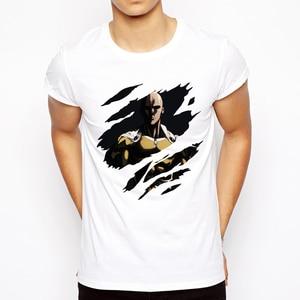 One punch man T-shirt 2019 Cool design Anime Men t shirt Saitama sensei t shirt OK Printed Casual Tee