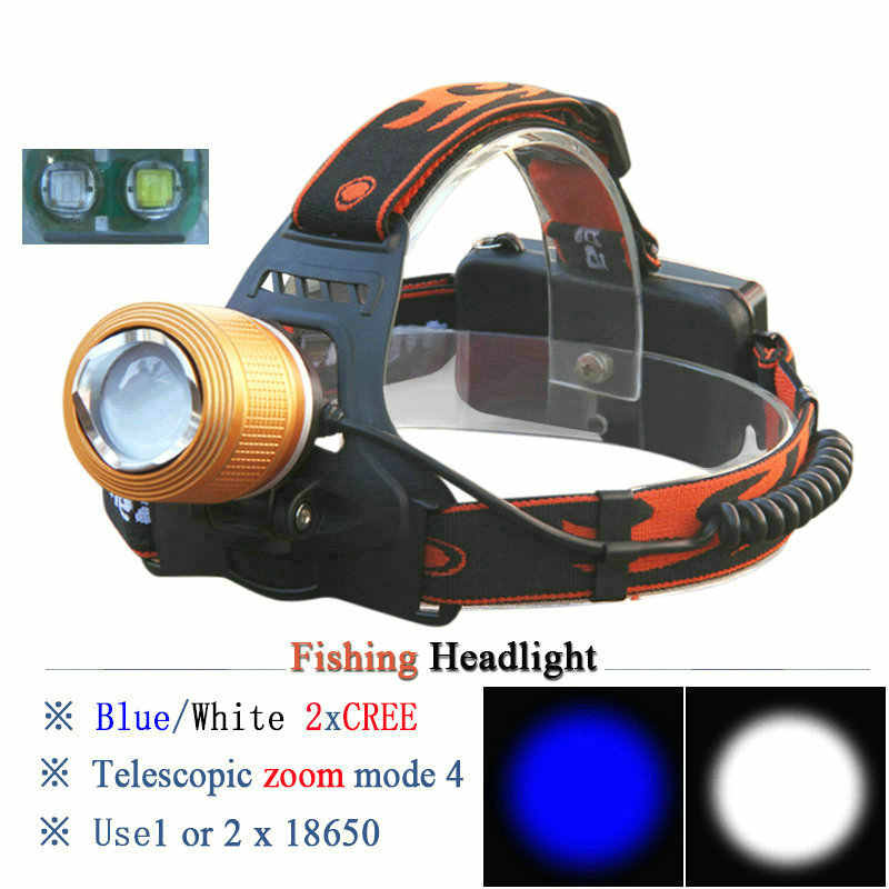 CREE High Power Neue Scheinwerfer Einstellbare Weiß oder Blau Cree Q5 LED Scheinwerfer Zoom Kopf Licht Fahrrad Kopf Lampe 18650 mit Ladegerät