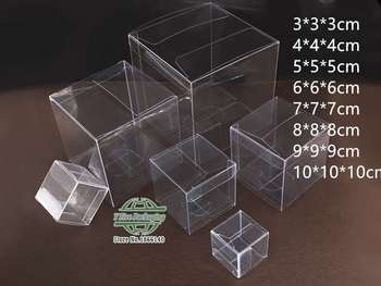 Small Size Clear PVC Gift Package Box Plastic Packaging Box For Jewelry/Candy/Food 200pcs/lot Free shipping