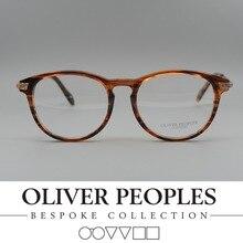 Freies verschiffen Kein BurdenOliver völker OV5264 Vintage myopiebrillen rahmen Retro runde brille rahmen