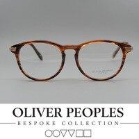 O envio gratuito de Nenhum Fardo OV5264 óculos de miopia Vintage frame Retro rodada dos homens e da mulher óculos de armação espetáculo quadro