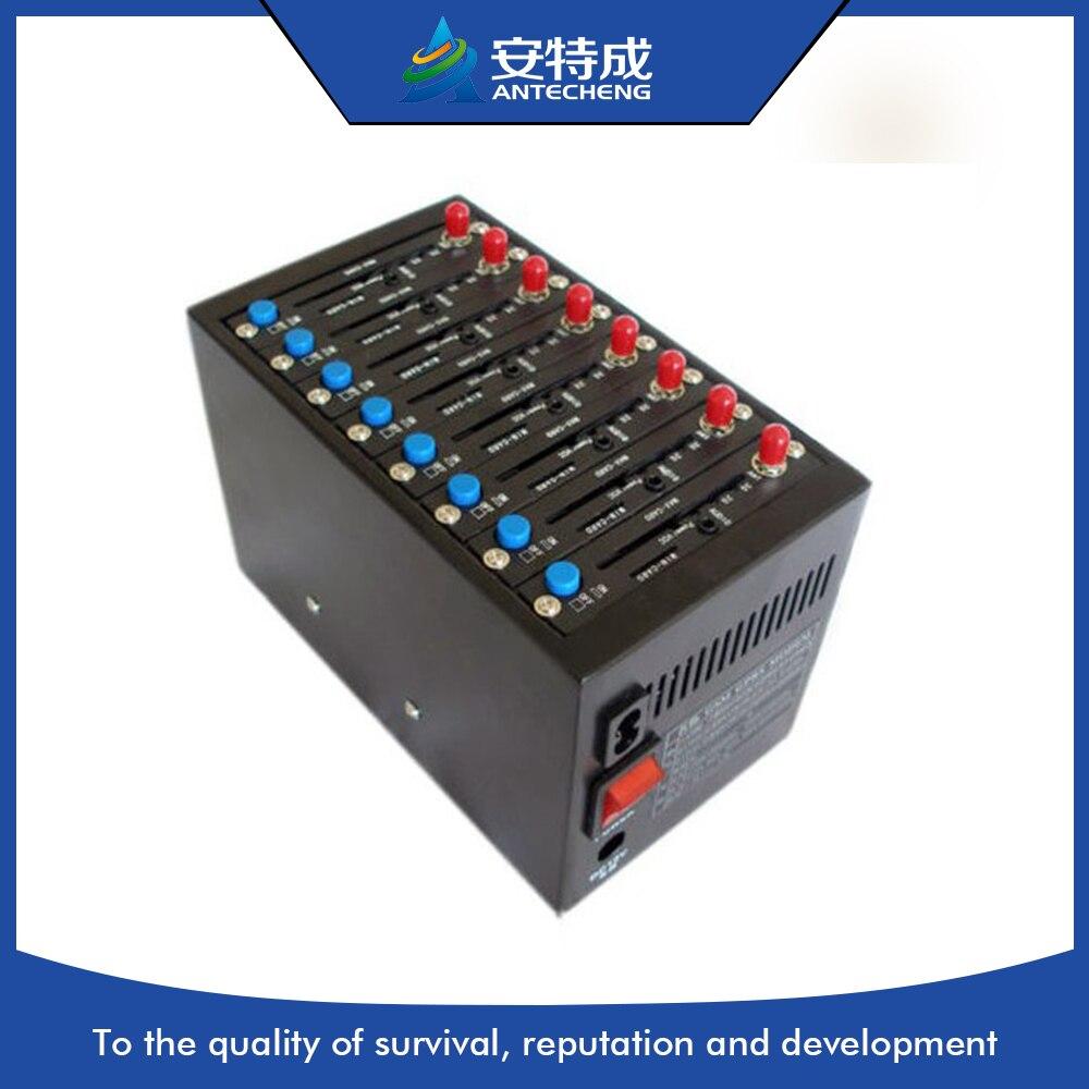 8 ports GSM/GPRS sms 2g Modem usb Wavecom modem multi port gsm modem gsm modem wavecom q24plus module com port at commands sms voice call