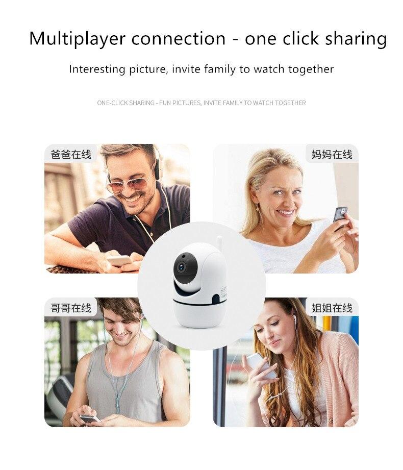 Caméra IP sans fil de sécurité panoramique/inclinaison intérieure caméra HD 1080 P WiFi Y4A-ZA (blanc)