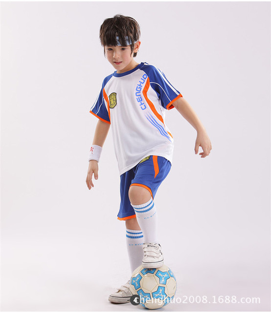 kids' soccer jerseys and jackets Soccer jerseys and jackets offer a heightened athletic look versus hoodies and t-shirts. Kids can boast their own team pride, or show a bit of their personality with team replica wear.