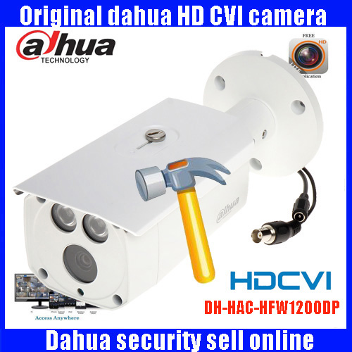 DAHUA HDCVI 1080P Bullet Camera 1/2.72Megapixel CMOS 1080P IR 80M IP67 HAC-HFW1200D security camera DH-HAC-HFW1200D camera bullet camera tube camera headset holder with varied size in diameter