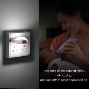 Image 4 - Mini Cute LED Socket Night light EU Plug Sensor auto on/off Wall lamp 110V 240V LED light Baby Kids Bedroom home night lighting