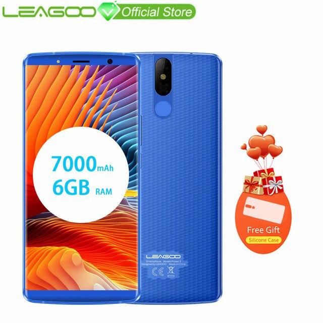 """LEAGOO мощность 5 мобильный телефон 5,99 """"FHD + 18:9 7000 мАч Оперативная память 6 ГБ Встроенная память 6 4G B 13MP двойной Камера Android 8,1 MT6763V восьмиядерный смартфон 4G"""