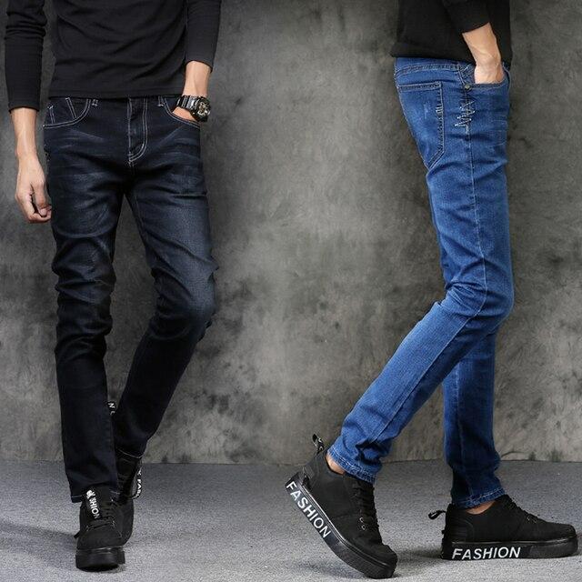 fa9d0d80ab Vaqueros hombres 2018 nueva moda estilo coreano High Street slim fit botón  personalidad vintage clásico Denim