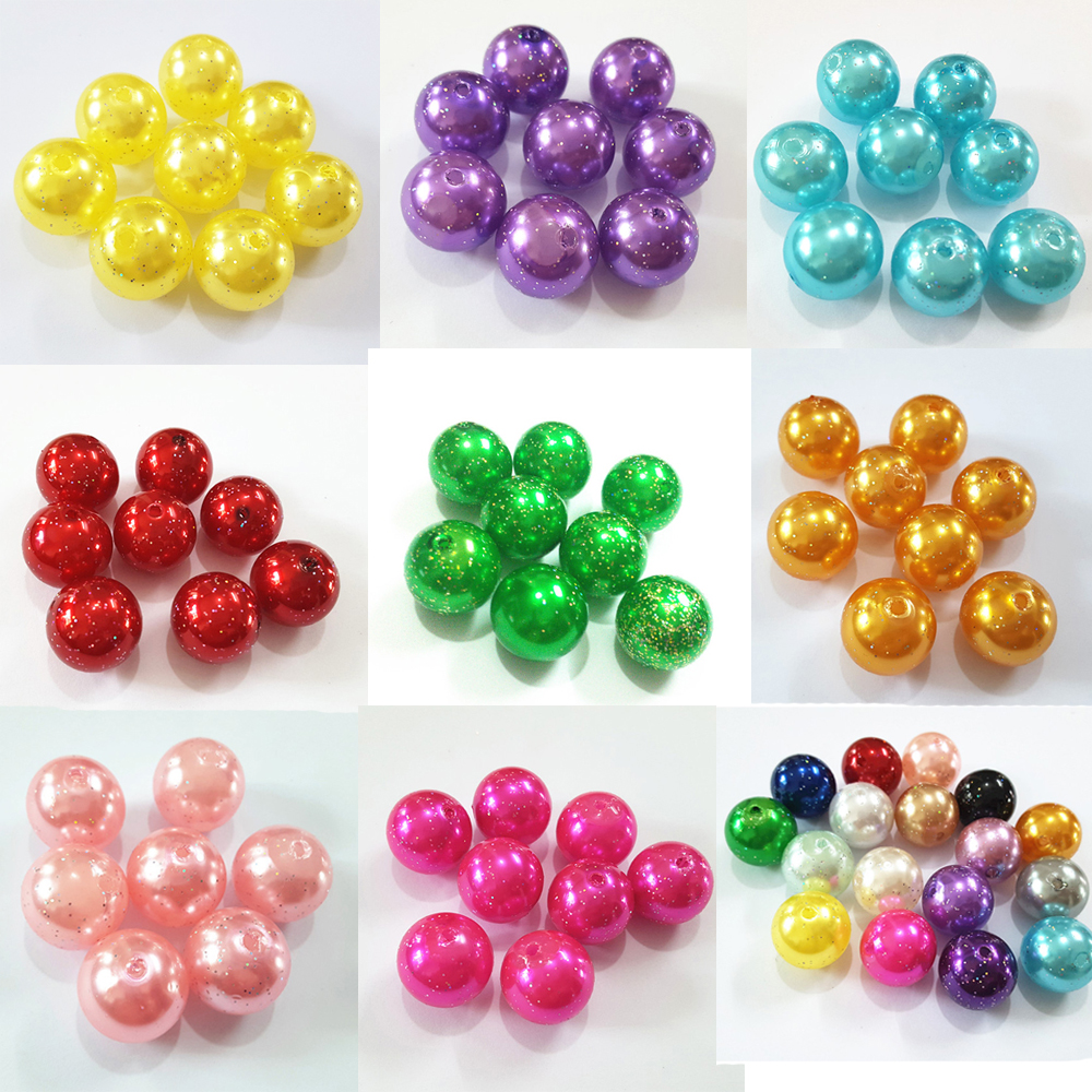 *110pcs Beads-8mm Sky Blue//Aqua Color Imitation Acrylic Round Pearl Spacer*
