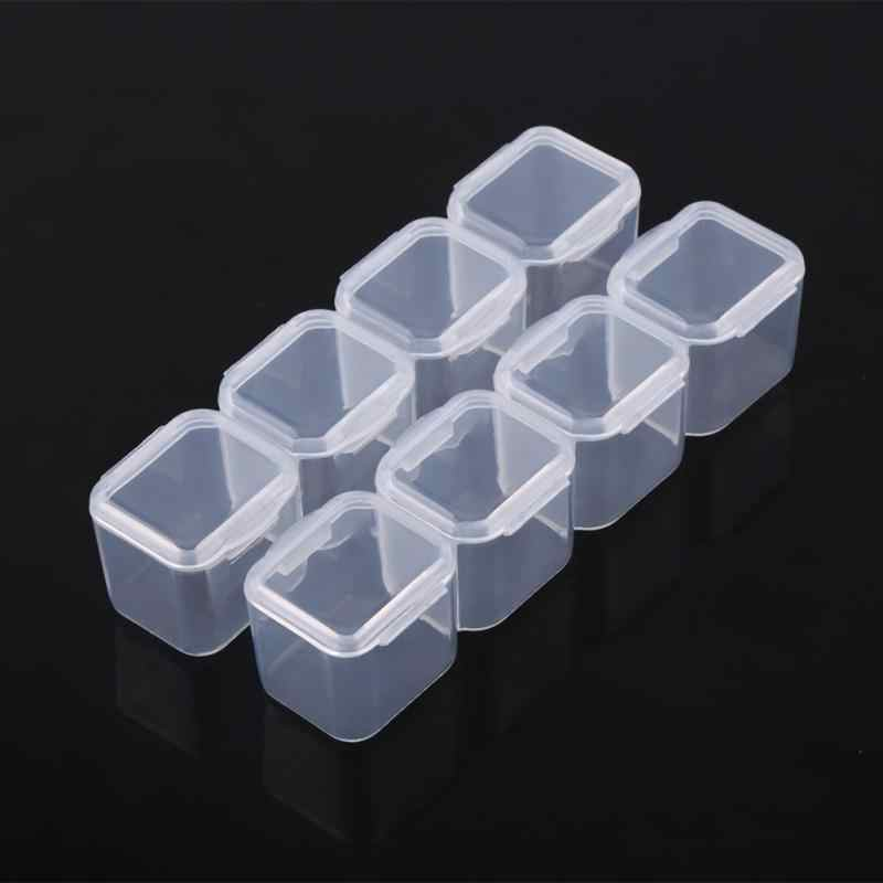 Clear Plastic 28 Slots Verstelbare Tablet Geneeskunde Pil Sieraden Ketting Ring Armband Organizer Box Container