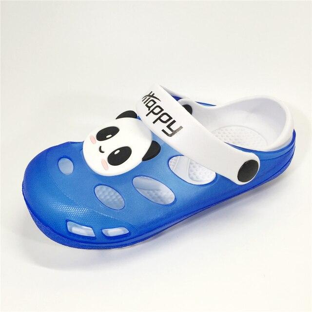 KINE PANDA Summer Beach Clogs Kitty Rabbit Little Boys Kids Shoes For Girl Baby Boy Children Shoes Girls Garden Slippers