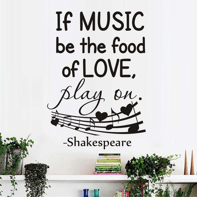 Wall stickers quote shakespeare sayings if music be the - Over the garden wall soundtrack vinyl ...