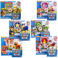 Genuine Paw Patrol Action Pack Pup & Badge -chase marshall rocky zuma skye rubble apollo -children's toy original box(China)
