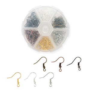 6 colors 19mm copper Ear Wires hooks Earring Findings Earrings Clasps Hooks Fittings for earring making Jewelry DIY 120pcs/box