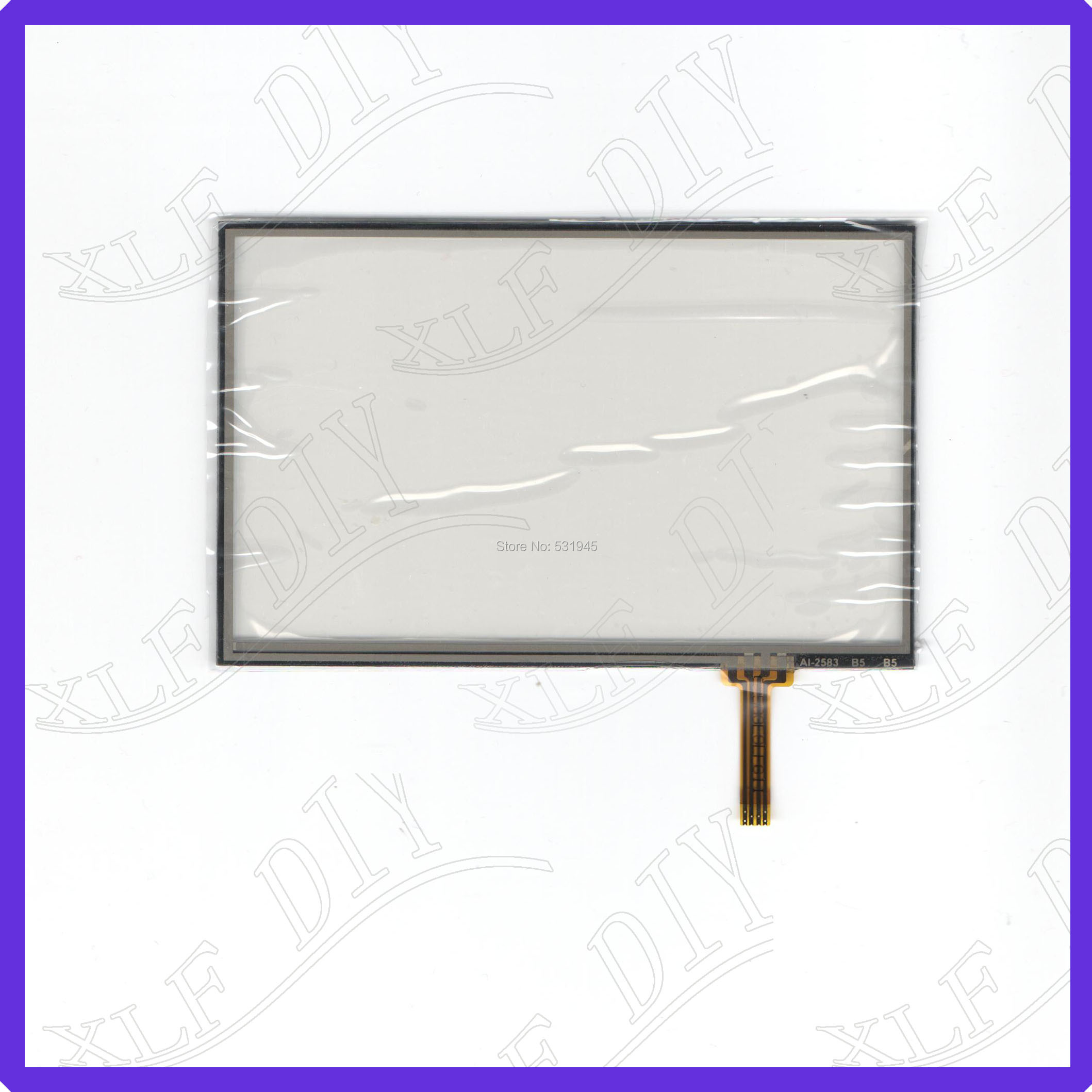ZhiYuSun AI2583  5inch Touch Screen glass 4 lines resistive touch panel SCREEN sensor
