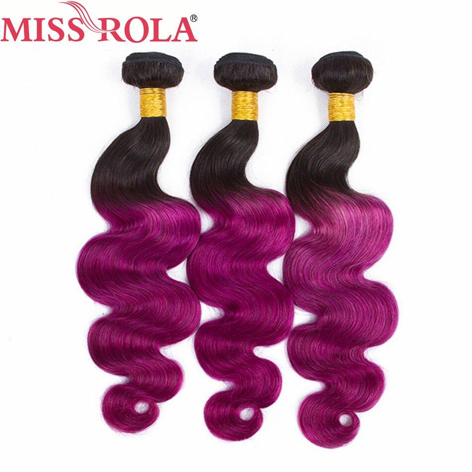 Miss Rola włosów wiązki włosów naturalnych peru ciało fala 3 wiązek 100% ludzkie włosy tkania T1B/fioletowy kolor nie doczepy z włosów typu remy w Warkocze od Przedłużanie włosów i peruki na AliExpress - 11.11_Double 11Singles' Day 1