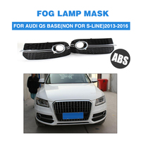 ABS Chrome Front Foglamp Mask Grill Mesh Grille Covers For Audi Q5 Standard Bumper Non-Sline 2013-2016