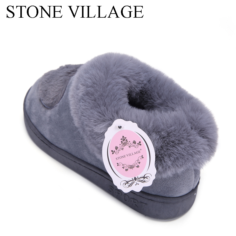 New Arrival Heart-Shaped Cotton Women Slippers Warm Plush Winter Fur Slippers Soft Indoor Shoes Flat With Home Slippers 2