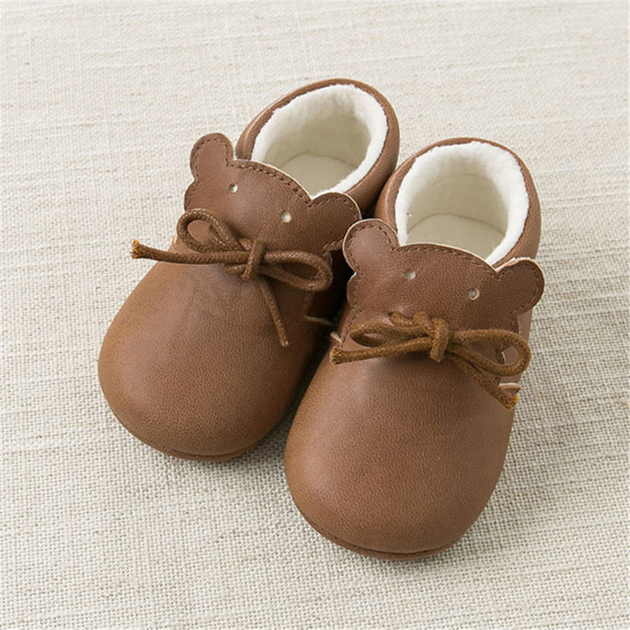 2017 Lolita Booties Bling Leather Baby Crystal Ankle Boots Zapatillas Kid Designer Cute Baby Girl Walkers Bear Footwear 70A1022 baby boots winter boy snow boots brand newborn leather baby boots for girl baby shoes infant kid shoes first walkers moccasins