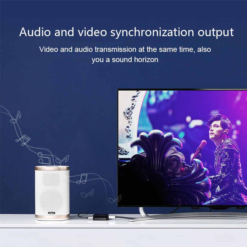 أوسب C هدمي أوسب 3.1 نوع C كابل وصلة بينية مُتعددة الوسائط وعالية الوضوح محول هدمي 4 كيلو HDTV لاجهزة ماك بوك 2017 مايكروسوفت 950/950XL ، ال جي G5 ، HTC ULTRA ، سامسونج S8