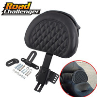 For Harley Touring Electra Road Street Glide Road King 97 17 Motorcycle Adjustable New Plug In Driver Rider Seat Backrest Kit