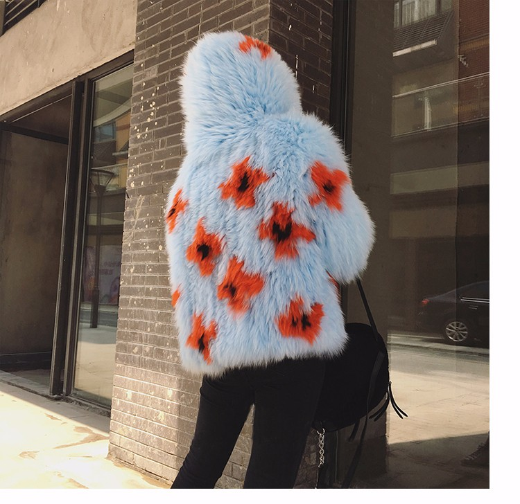 2016 New Arrival 100% Natural Fox Fur Knitted Coat With Hood,Women's Real Fox Fur Outerwear Hooded BE-1663 EMS Free Shipping 6