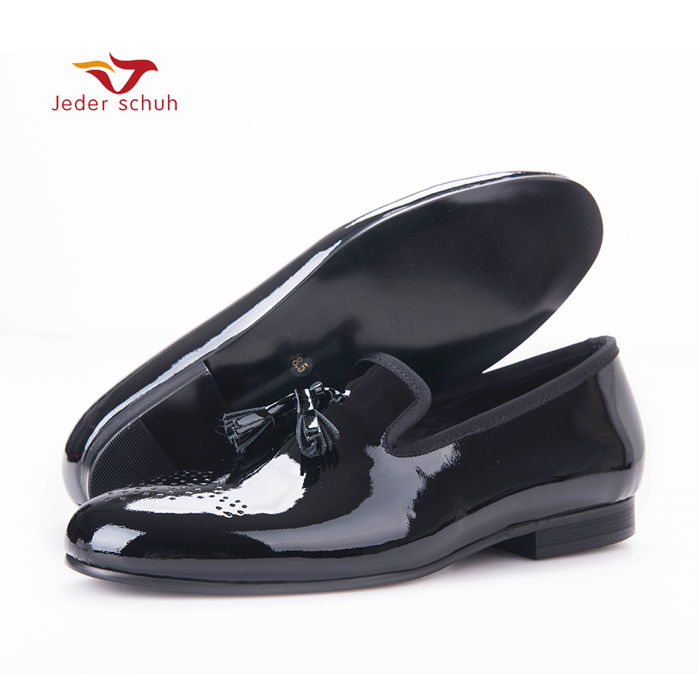 Size 6-16 Patent leather shoes Slip-On and Pig leather in Men's Loafers Party Wedding Casual Shoes for 2017 New business Series