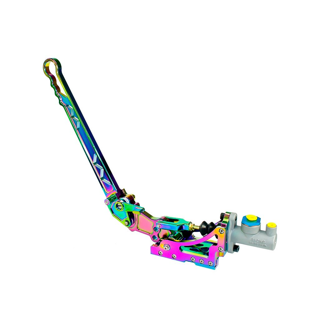Universal Racing Neo Chrome Adjustable Vertical Hydraulic Drift Aluminum Handbrake With Gear+Special Master Cylinder neo chrome adjustable e brake hydraulic drift racing handbrake hand brake vertical horizontal s14 ae86
