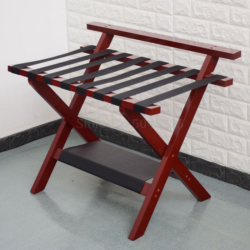 Мебель для отеля, цельная деревянная стойка для багажа, складывающаяся Одежда для хранения кроссовок, домашняя комната, спальня - Цвет: A