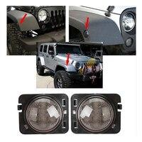 Suparee LED Light Front Fender Flares Turn Signal Light For Jeep Wrangler JK 2007 2015 LED