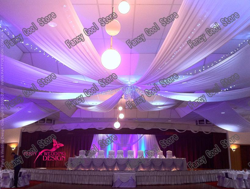 10 pcslot de mariage drapy 07 m 12 color sheer glace soie tentures - Tenture Plafond Mariage