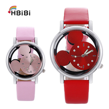 New product launch children's watch Transparent hollow cute minnie dial kids