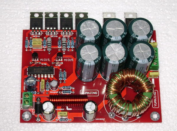 цена на 12V switching power supply boost positive and negative 32V power amplifier board protection