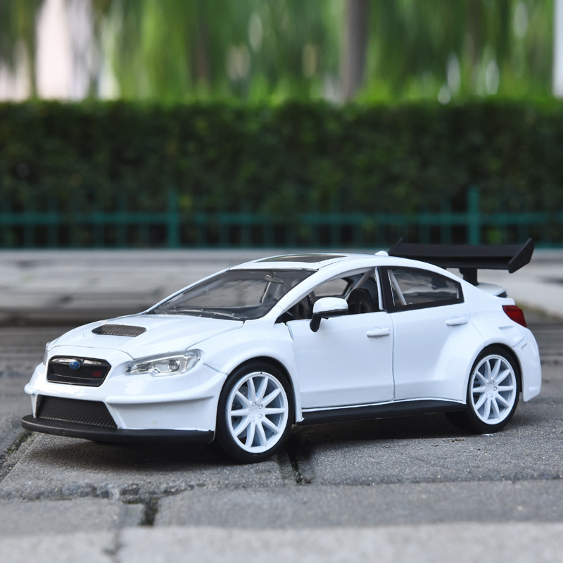 1:24 Simulation Alloy Sports Car Model Car Toy For Subaru WRX With Steering Wheel Control Front Wheel Steering With Original Box