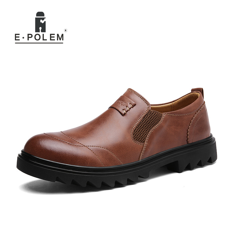 Autumn Winter Genuine Leather Men Shoes Fashion Low Help Casual England Style Waterproof Business Hot Sale Cow Leather Shoes mens casual leather shoes hot sale spring autumn men fashion slip on genuine leather shoes man low top light flats sapatos hot