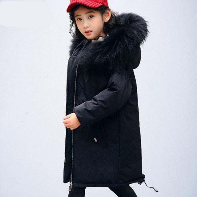 Girls Duck Down Coats 2018 New Design Russia Winter Jacket Coats For
