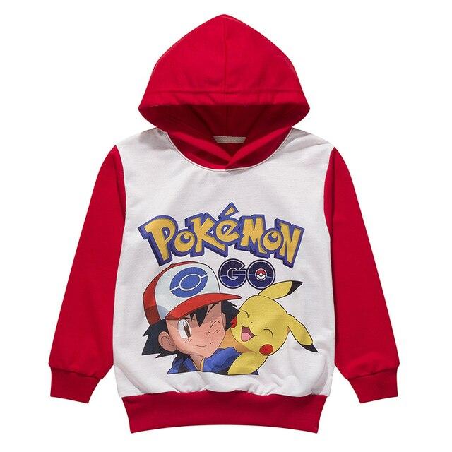 Pokemon Go детские толстовки clothing Рождественские костюмы для мальчиков модная одежда мультфильм Рождество костюм для мальчика AA007