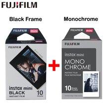 2017 натуральная Fujifilm Fuji Instax Mini пленка монохромный моно + черная рамка пленка для Mini 8 70 8 плюс 90 25 Камера SP-1 SP-2 плюс