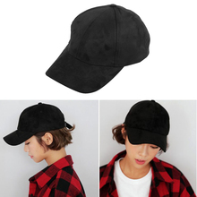 2018 New Suede Solid Color Baseball Cap Adjustable Men And Women Fashion Hat Accessories Outdoor Riding Sports Leisure