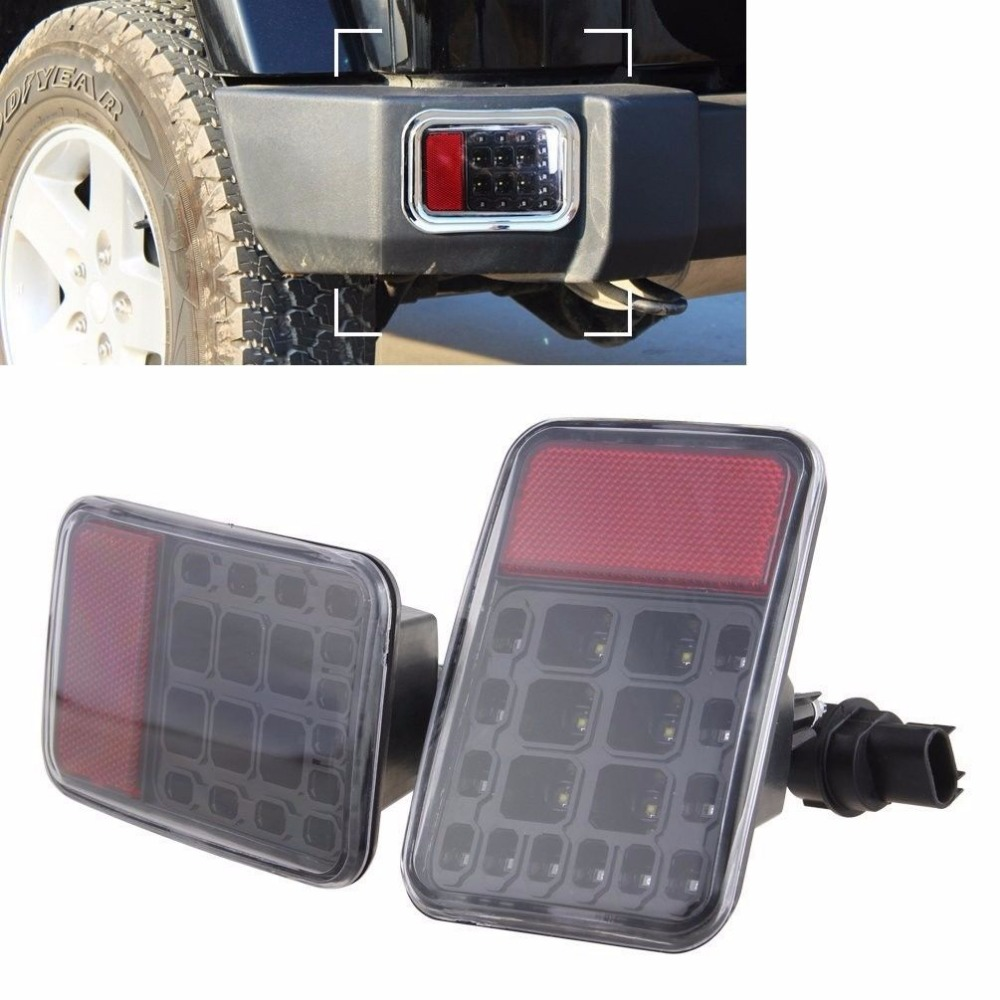 LED Tail Rear Back Bumper Light Parking Reverse Brake Lamp for 1997 2016 Jeep