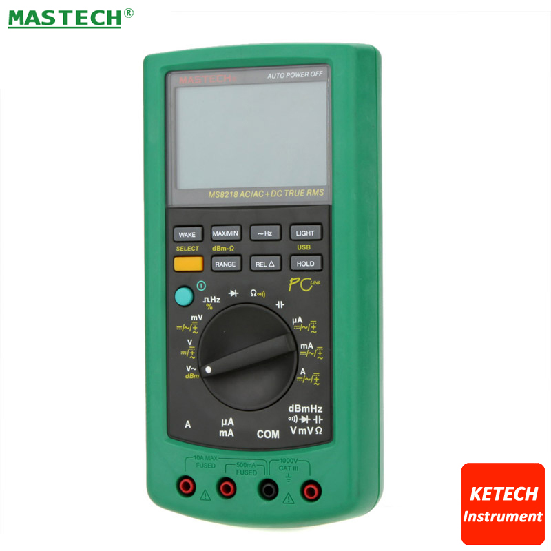 High Accuracy 50000 Counts DMM Digital Multimeter Precision Smart Handheld Computer Can Be Connected MASTECH MS8218 цена