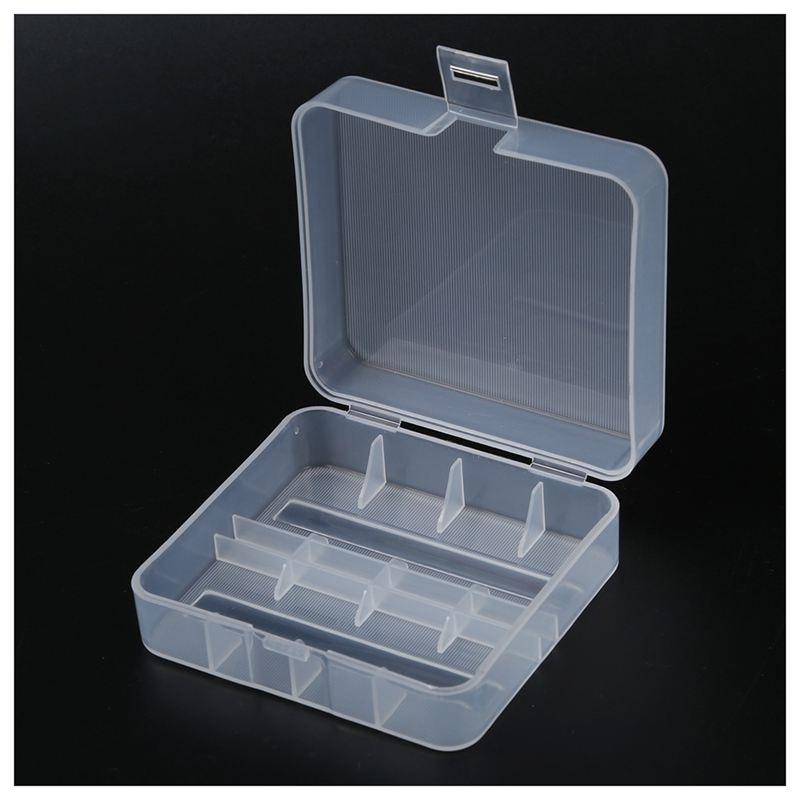 OUNONA batteria trasparente batteria scatola batteria Organizer per 2/Batterie