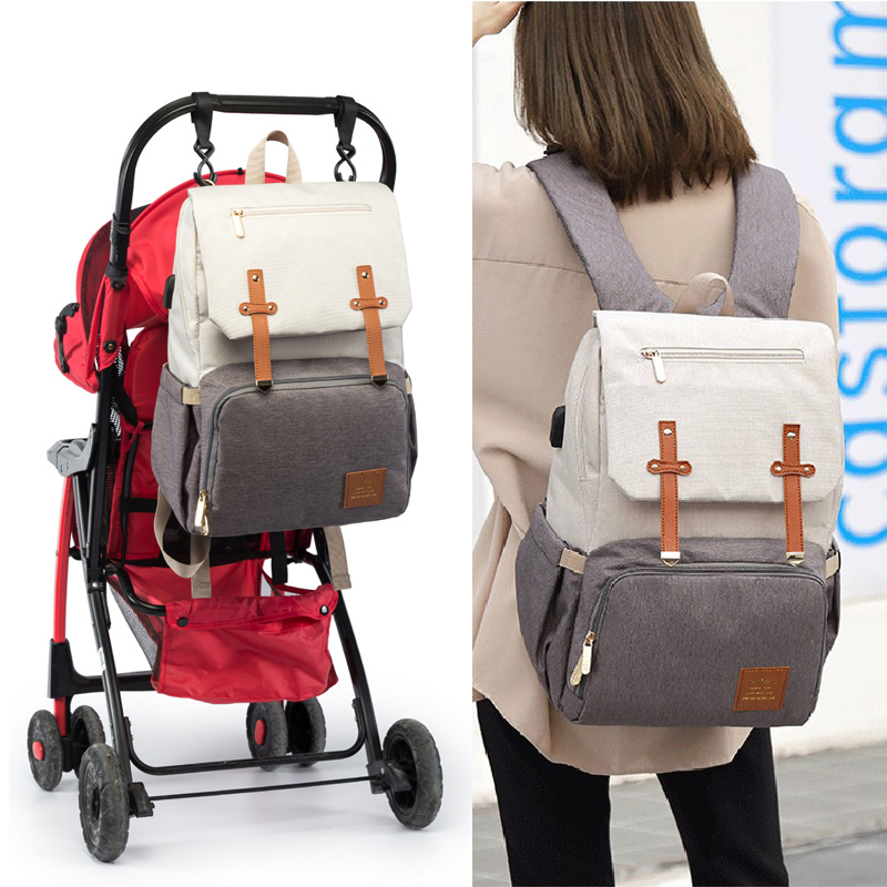 Baby Diaper Bags for Dads Moms Backpack Large Capacity Waterproof Nursing Bags Travel Stroller Bag Luxury Organizer For Twins 5