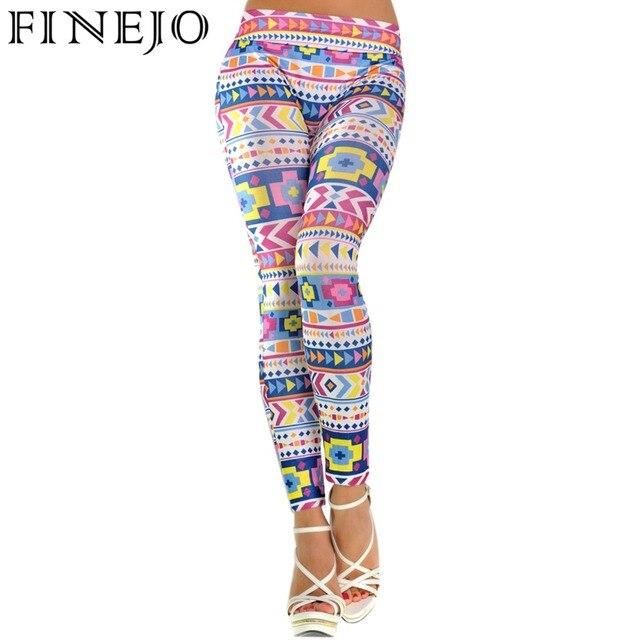 FINEJO Women Leggings New Stylish Pattern Print  Stretch Skinny Pencil Pants